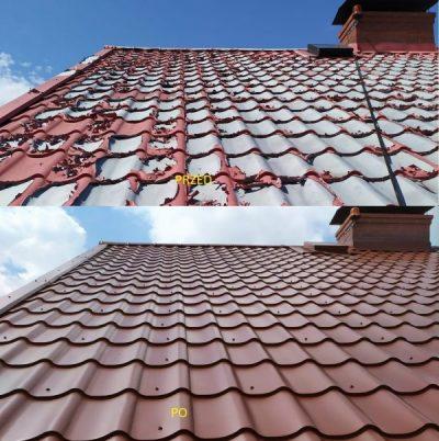 Przygotowanie dachu (blacha) do malowania